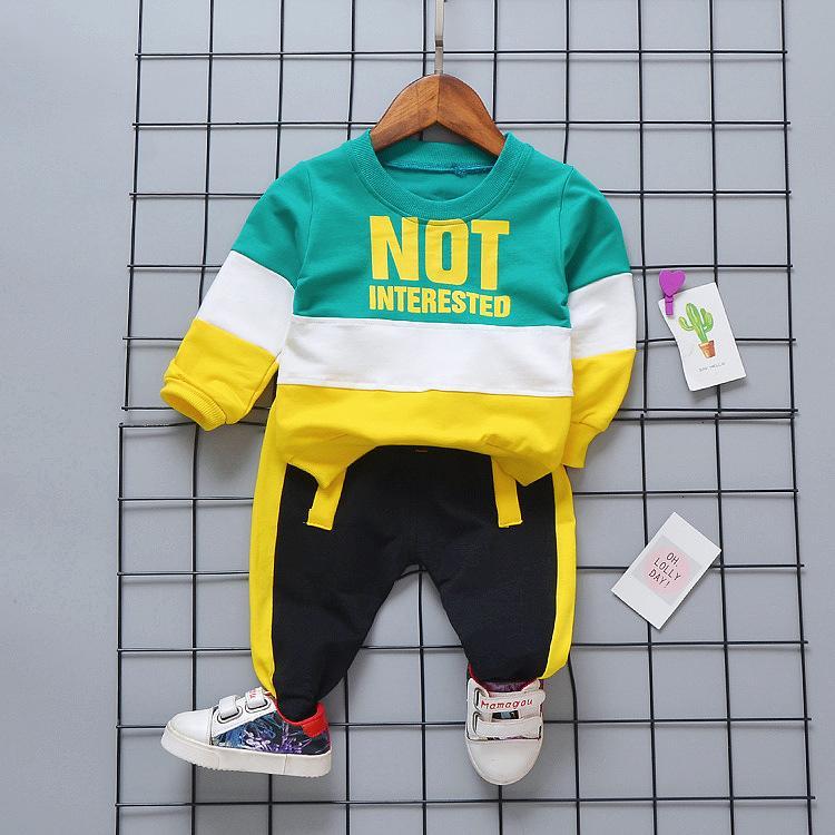 Otoño Baby Girl Boy Conjuntos de ropa Trajes de ropa infantil Casual Sport T-shirt Pantalones Niño Niño Trajes de ropa