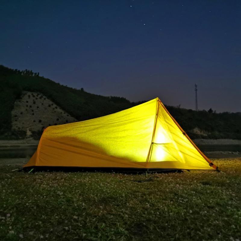 2 Pessoa atualizado Ultraleve Tent oxford pano revestido tecido impermeável Tourist Mochila tendas ao ar livre Camping