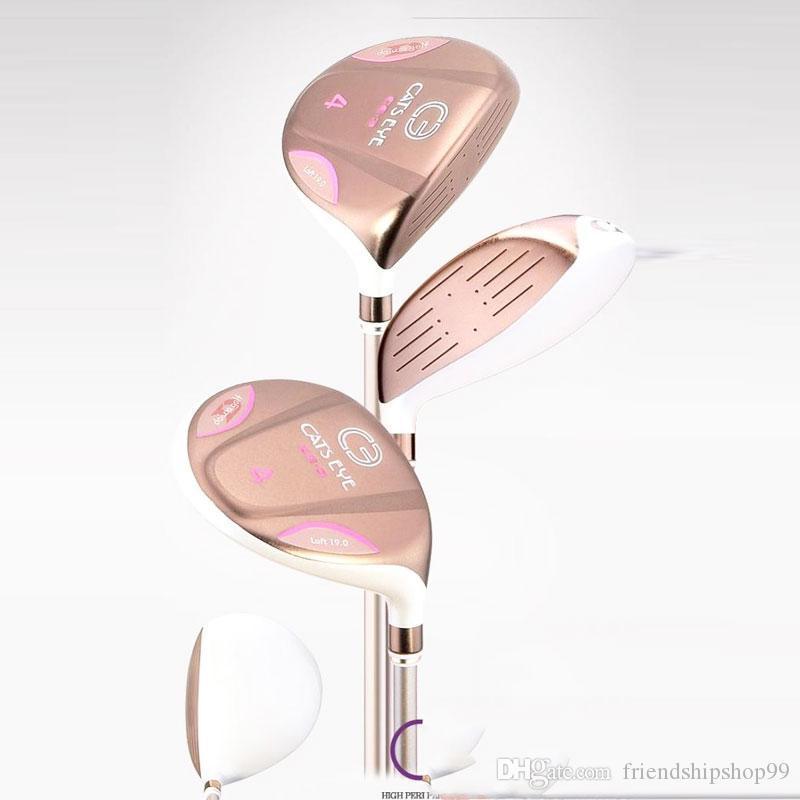 kulüpleri Grafit Shaft ve kapağın Golf komple set golf sopası kadın Golf kulüpleri Daiwa KEDİLER GÖZ Golf sürücü fairway ahşap Hibrid demir