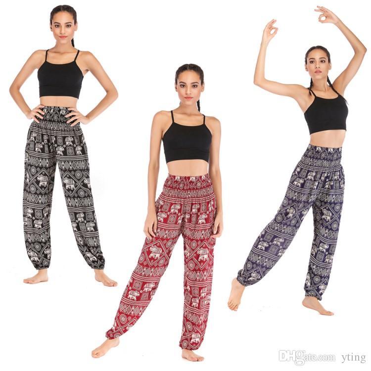 Compre Pantalones Tailandeses De Yoga Casual Ojos Y Elefante Pantalones De Yoga Pantalones De Linterna Usar Algodon De Las Mujeres 9 Patrones Envio Gratis A 9 11 Del Yting Dhgate Com