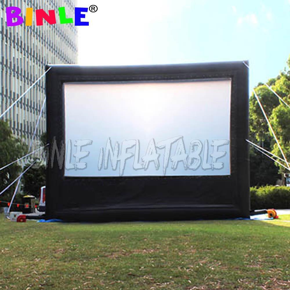 Seyyar bez, satılık arkadan projeksiyon şişme TV ekranı bulunan Touring'in 10x8m Büyük Açık Şişme Sinema Ekranı