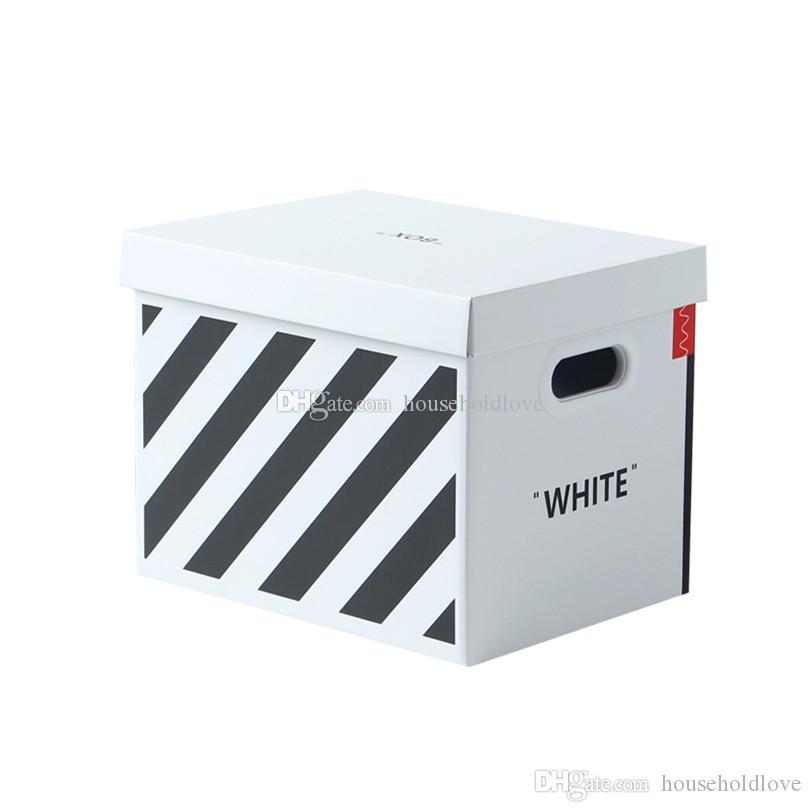 المد والجزر العلامة التجارية وجبة خفيفة علبة هدية من ورقة تخزين boxs مع غطاء الإبداعية إفراغ صندوق هدية صندوق تخزين التشطيب Boxs لعب مكتب الملابس منظم