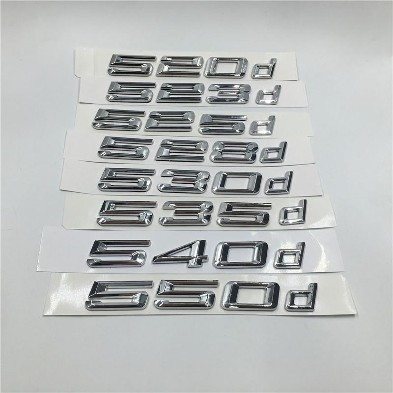 For BMW F10 5 Series 535d Matte Black Rear Boot Trunk Lid Letters Emblem Decal