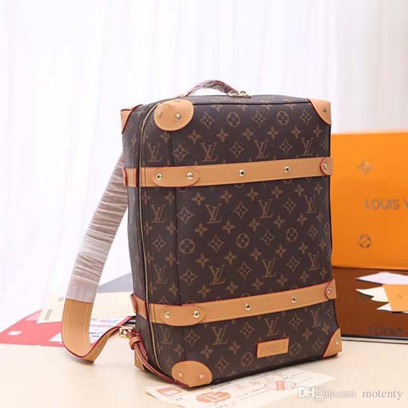 К 2020 году новые роскошные мода рюкзак из натуральной кожи и холст роскошные мода дизайнер сумка мода печати рюкзак M44572 X123