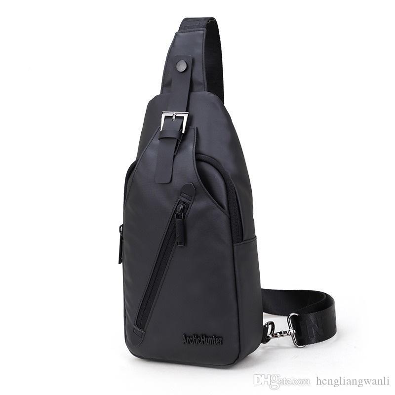 Sac à bandoulière en oxford en tissu imperméable à l'eau pour homme sac à dos étudiant poitrine sac sac à bandoulière section d'explosion sac à main Messenger