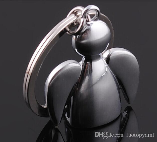 Design criativo Adorável Anjo Keychain Homens Mulheres Chave Holder Chain Ring Bag Pingente