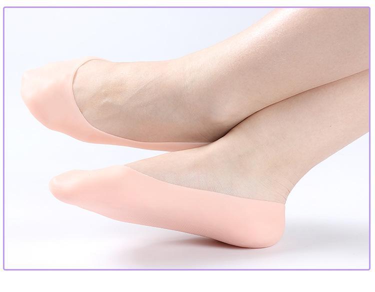 Chaussettes hydratantes gel de silicone 34-45 yards Chaussettes gel élastique réutilisable exfoliantes Lisser pied peau outils de soins