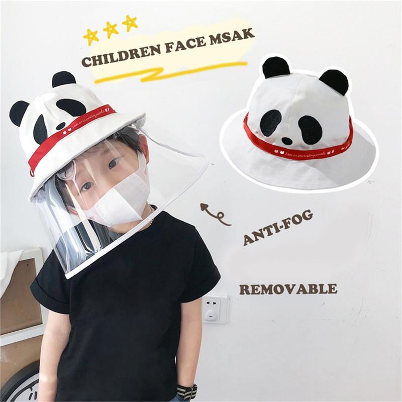 Рыбацкая шляпа защитная шапка защитная шляпа защита глаз анти-туман ветрозащитная крышка лица крышка мультфильм панда для детей