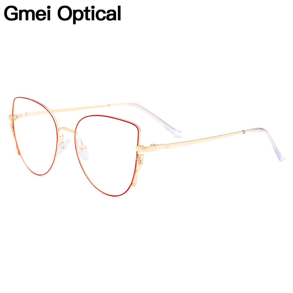 Gmei Оптический Стильный Urltra-Легкий Титановый Сплав Женщины Площадь Полный Оправа Очки Оправы Для Близорукости Рецепт Очки M18016