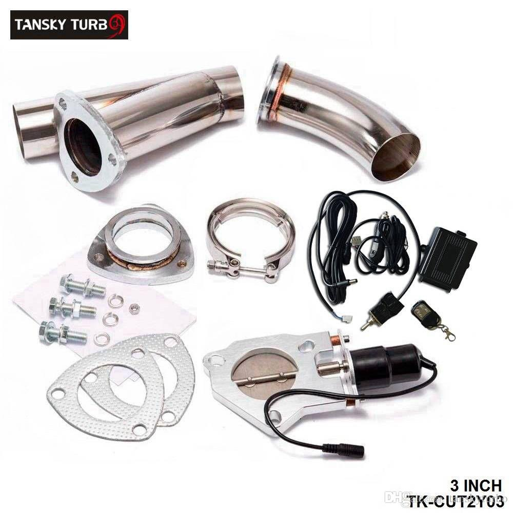 """Tansky - Elektrische uitlaat 3.0 """"Uitsparingen / E-Cutout W / Switch / Remote / Switch + Remote Downpipe Cut Out Out-Klep System Kit"""