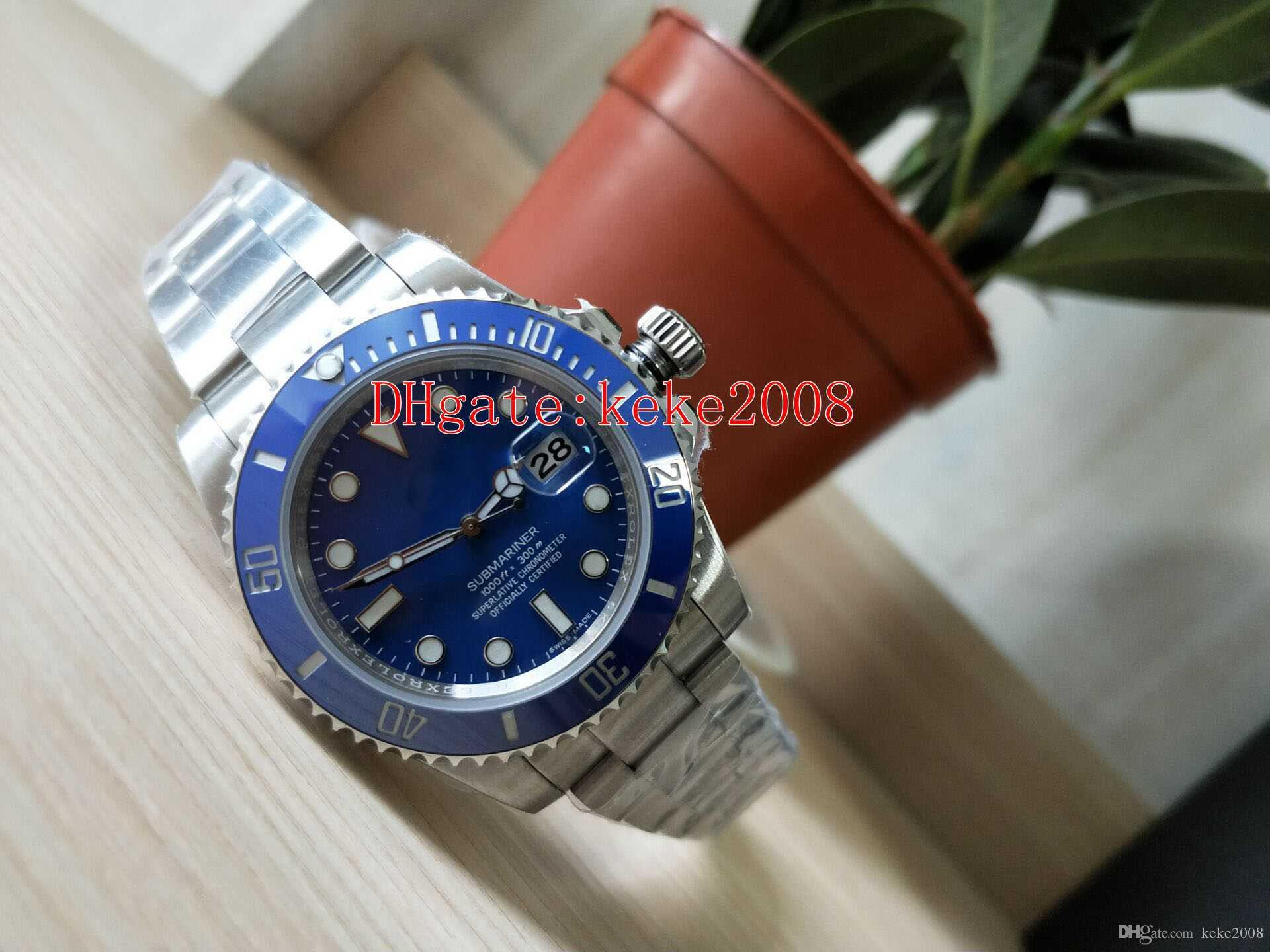6 estilo de calidad superior para hombre de la fábrica de pulsera BP 116610LN 116610 116619 116613 116613LB 40mm Asia 2813 relojes para hombre reloj Movimiento automático