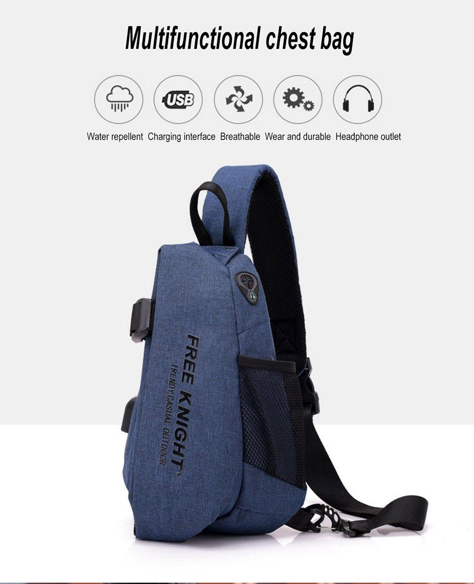 Tragbare Pack des Mannes Kleiner Mini-Rucksack Racket Im Freien Beutel mit Ladeanschluss Kopfhörerport Fashion Wasserdicht Polyester