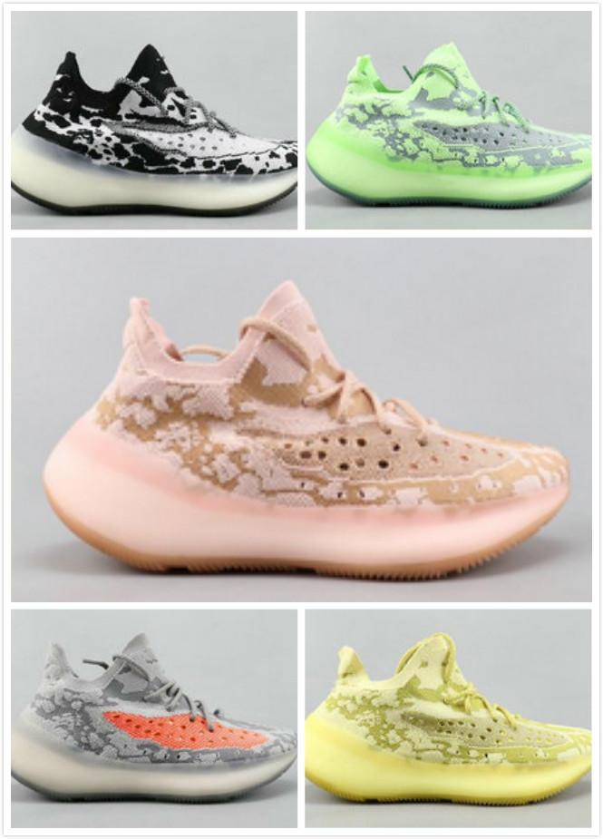 3 36 46 Kanye V Цитрин Черный Белый Чужой Зеленый Желтый Розовый Кроссовки Мужчины Женщины Мода Работает 6-Открытый Обувь