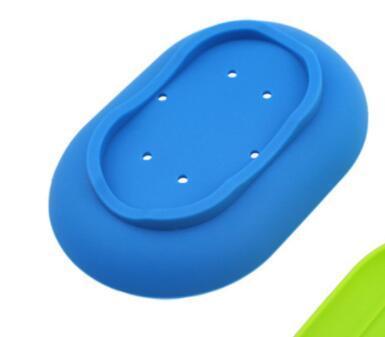 Savon silicone Savon Vaisselle anti-dérapant souple Porte-plaque Plateau Leaking mouldproof Boutique Soap rack Accessoires de salle de NN
