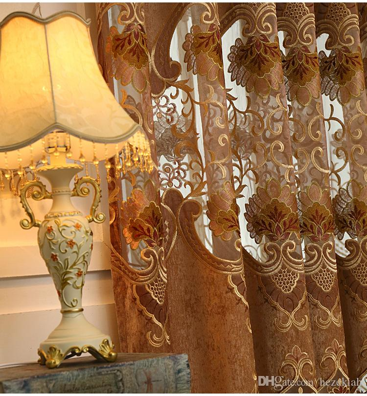 Moderne minimalistisch im europäischen Stil bestickten Vorhang Stoff Wohnzimmer Schlafzimmer Jacquard Halbverdunkelungsvorhang fertigen individuelle Angebote