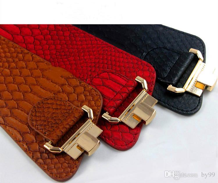 Neue europäische und amerikanische Neigung elastisch Super breiten Gürtel Schlange Krokodil schöne dekorative Damen Taillendichtung Hersteller direkt GL