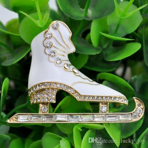 2020 5 6cmx4 3cm Womens Ice Figure Skating Shoes Skater Zinc Alloy Fashion Brooches With Stones Fashion Design From Lucky Joy 2 32 Dhgate Com