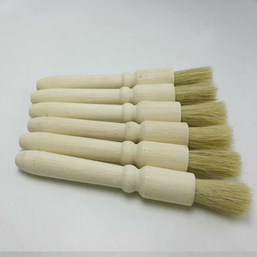 التعامل مع القهوة فرشاة القهوة آلة مطحنة فرشاة تنظيف الخشب الطبيعي الشعر الخشن الخشب الغبار اسبرسو فرشاة ZZA1797