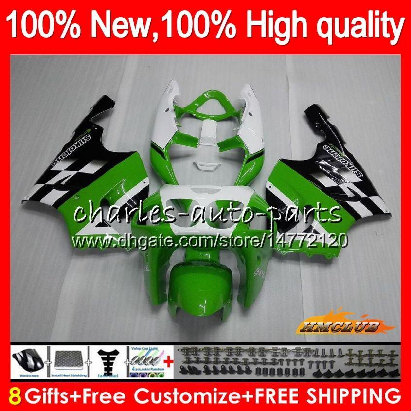 Cuerpo para Kawasaki ZX 7R ZX7R ZX750 96 97 98 99 00 01 02 03 28HC.0 ZX750 ZX ZX 7R 750 verde ZX7R 1996 1997 1998 1999 2003 carenado de fábrica
