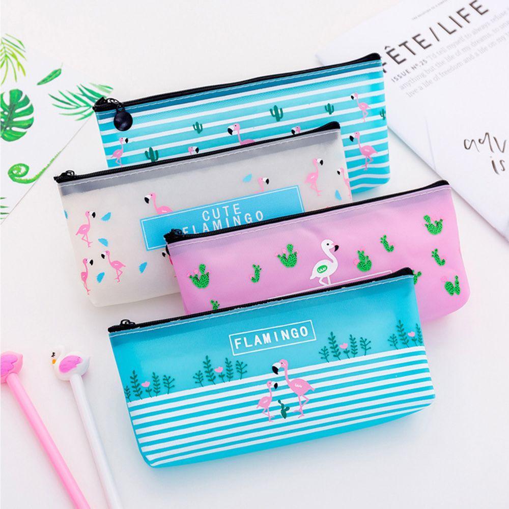 1pcs Kawaii Nueva lindo jalea Animal pluma de gel Bolsa Fresca pequeña portátil de gran capacidad de papelería bolsa de lápiz de la escuela del estudiante