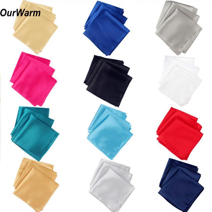 Ourwarm 100pcs 30cm Cloth Satin Napkins Silk Cotton Cover Wedding Banquet Dinner Party Table Decoration Q190603