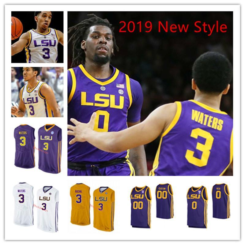 2021 Mens Custom LSU Tigers Basketball Jersey Naz Reid JaVonte ...
