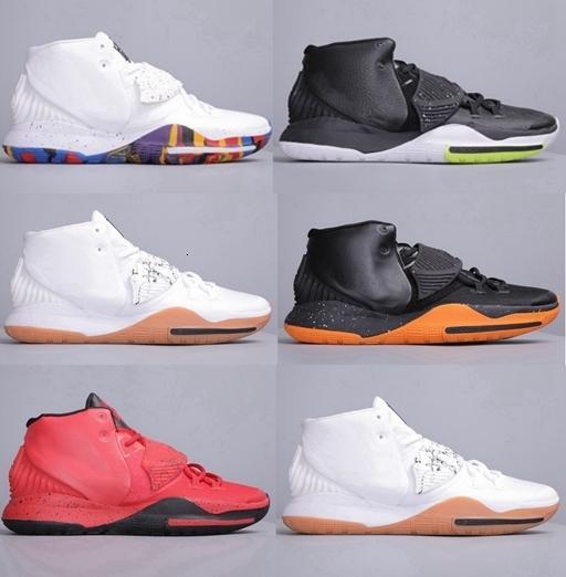 2019 Yeni Kyrie 6 6s EP Erkek Basketbol Ayakkabı Black Magic Kırmızı Irving 6s Erkekler Spor Spor ayakkabılar Yakınlaştırma des chaussures sepetleri Eğitmenler Zapatos