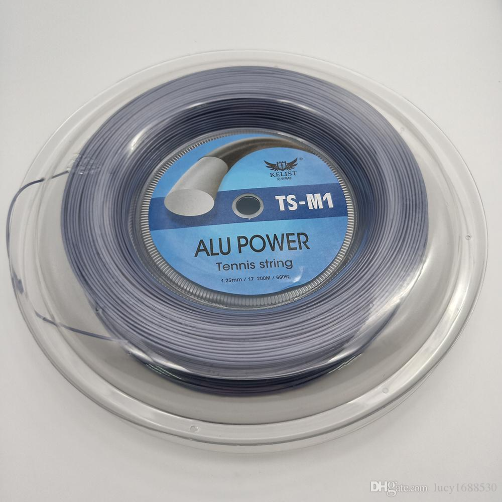 China Manufacturer Price 1.25mm Racket String Grey Alu Power Polyester Smooth 17L Tennis String 200m