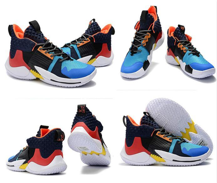 Zapatos de baloncesto para Zero.2 NUEVO zapatos de diseñador para hombre Negro naranja Westbrook zapatillas de deportes al aire libre de alta calidad tamaño capacitadores 40-46