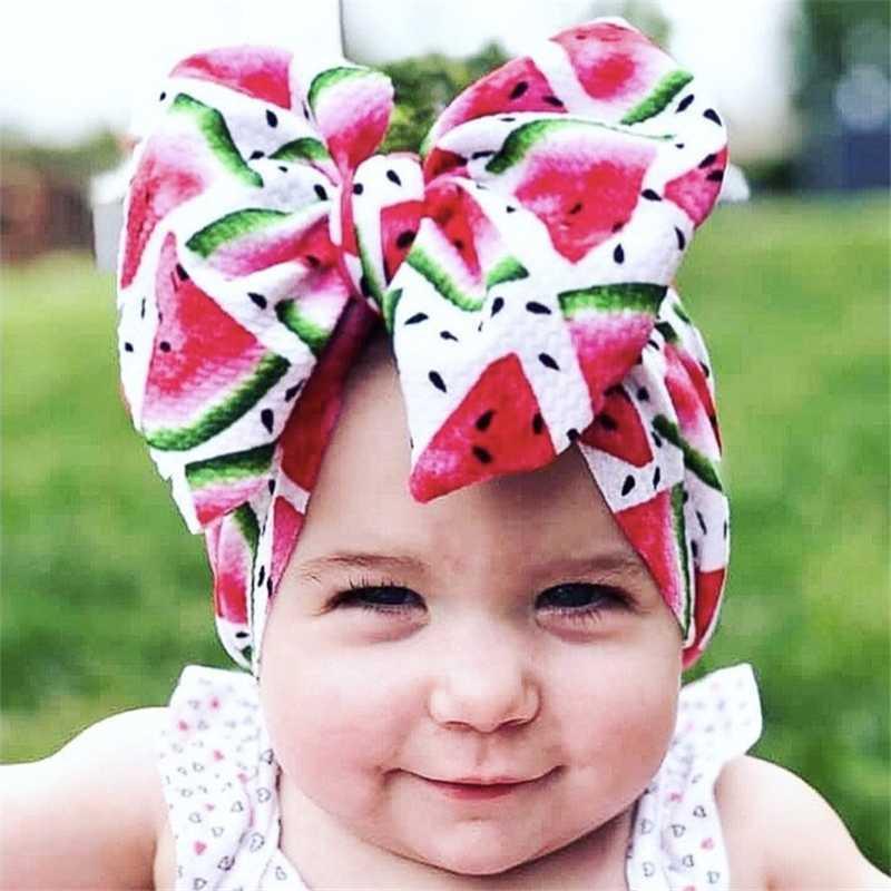 طفل كبير القوس النايلون العصابة للبنات الربيع للأطفال لينة مرنة جولة رئيس التفاف الوليد القوس اكسسوارات للشعر الشعر Hairband