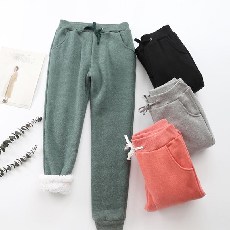 2019 Printemps Automne polaire Pantalons de Survêtement Femmes Casual Sport Pantalon Pantalon Femmes / Homme Pantalon De Survêtement Femelle Plus La Taille Cachemire Harem Y200418