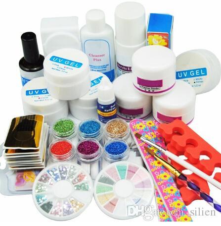 Kit ongles en acrylique Outils Pro pédicure manucure Set UV ongles Outils Nail Art Gel Outils de manucure acrylique Set Kits