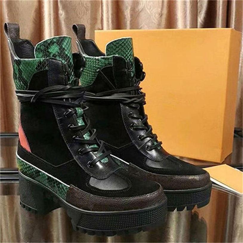 Lauréat Plate-forme Desert Boot Styliste Bottes Femme bottillons en cuir plate-forme 1a43r7 avec obscurcir sac à poussière Livraison gratuite Ou