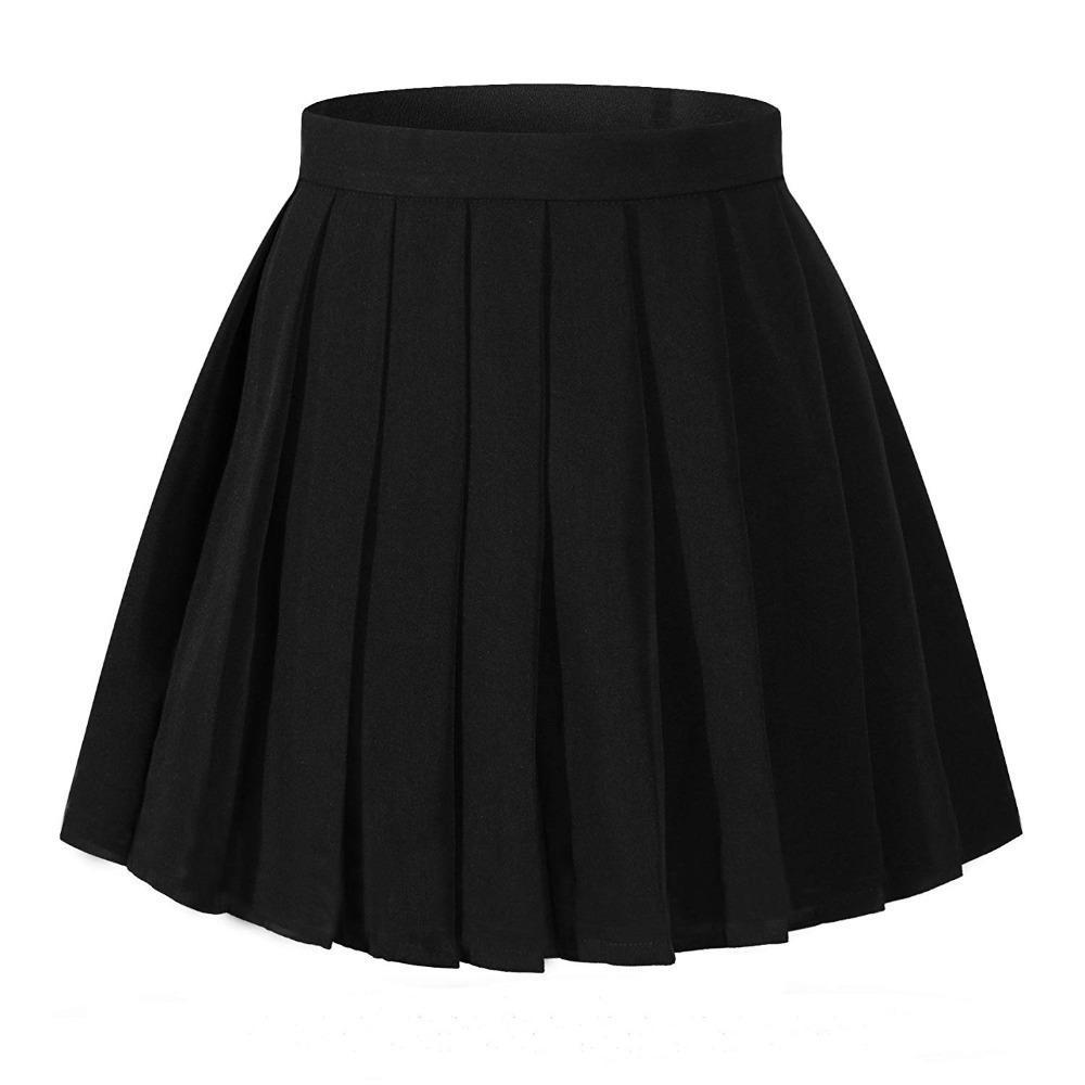 المرأة عالية الخصر مطوي تنورة مصغرة التنانير فتاة مدرسة موحدة منقوشة تنورة تأثيري ازياء Y19050502