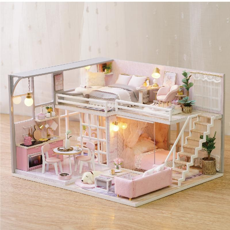15 DIY Doll Furniture Teenage Heart Miniature Dollhouse Toys For Children  Cute Family Casinha De Boneca Lol House Y15 From Shanye15, $15.15