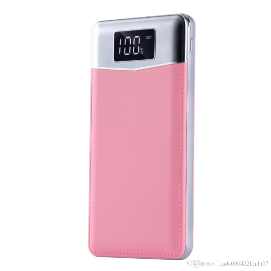 Durable LCD Digital Display Power Charger Mobile Bank Power Bank With Micro USB 5V/2A 5V1A/2.1A LED Flashlight