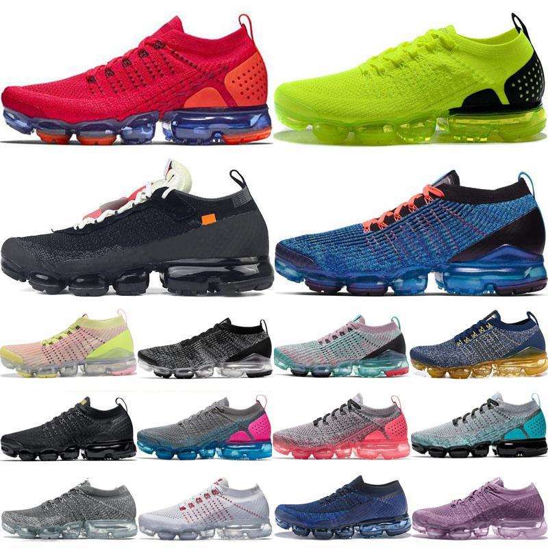 2018 2019 Chaussures Moc 2 vapori 2.0 Knit 1.0 Uomo Scarpe Nero Bianco Triple Correre Corsa 3.0 Womens Sport scarpa da tennis Cuscino Trainer Zapatos