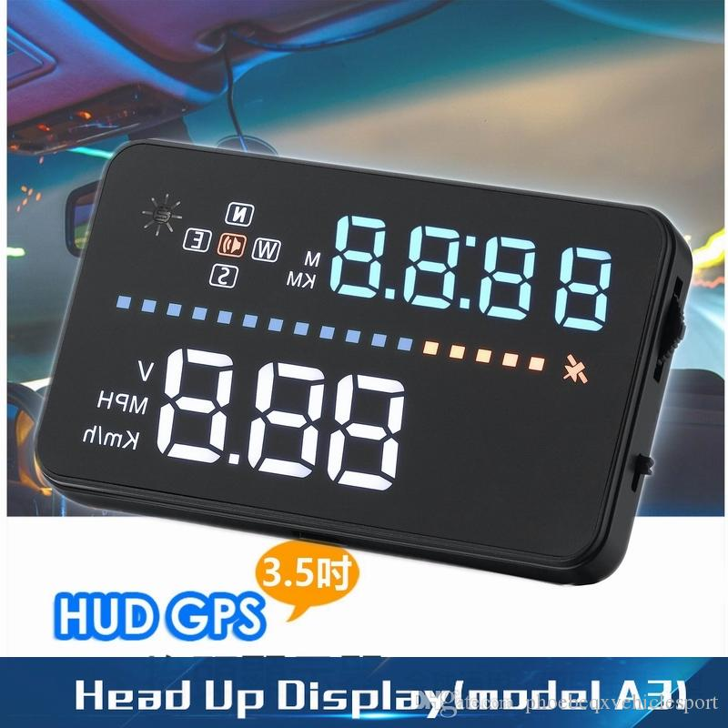 HEAD UP DISPLAY HUD A3 3.5inch screen for car GPS signal speed/direction display fault/error alarmer driving data projector