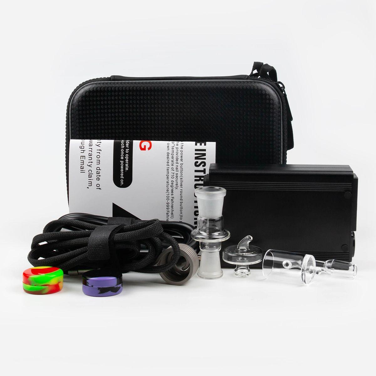 Narghilli e unghie kit di chiodo PID elettrico scatola di controllo della temperatura 110V 100W riscaldatore bobina Banger vetro adattatore DAB penna penna riga