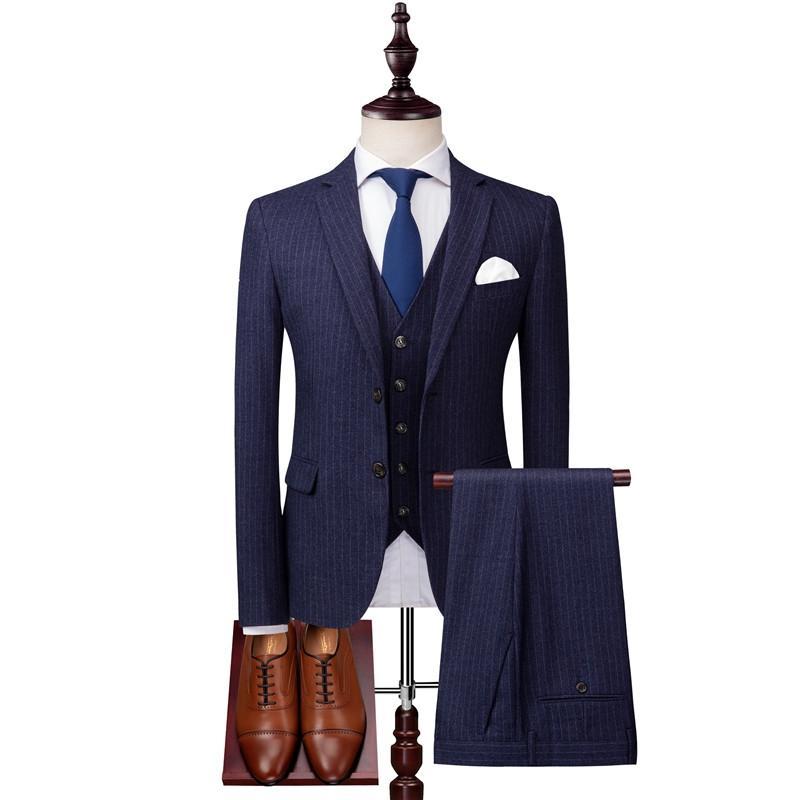ternos homens de negócios informais terno de três peças de primavera terno outono cavalheiro conjunto formal terno vestido de noivo do casamento groomsman magro dos homens