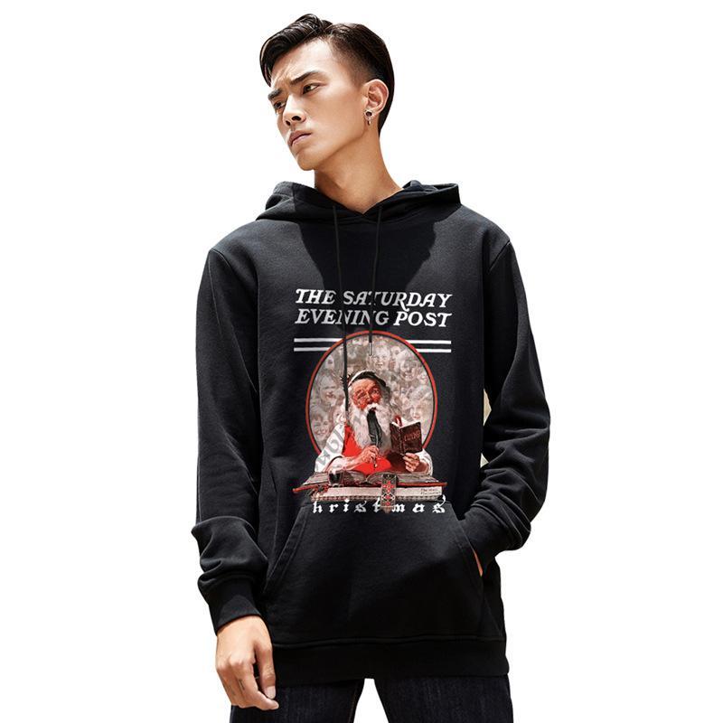 Nuovo Natale autunno e l'inverno maglione 2019 a maniche lunghe di velluto con cappuccio amanti maglione pullover maglione coppia