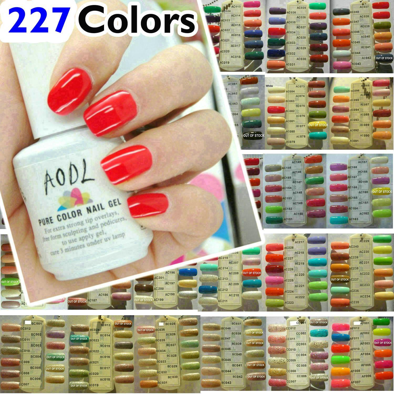 NUOVI 227 colori disponibili * impregna fuori dallo smalto Soak-Off Art LED UV del polacco del gel per unghie Coat glitter indurimento ~ ~ scegliere qualsiasi colore di alta qualità * AODL