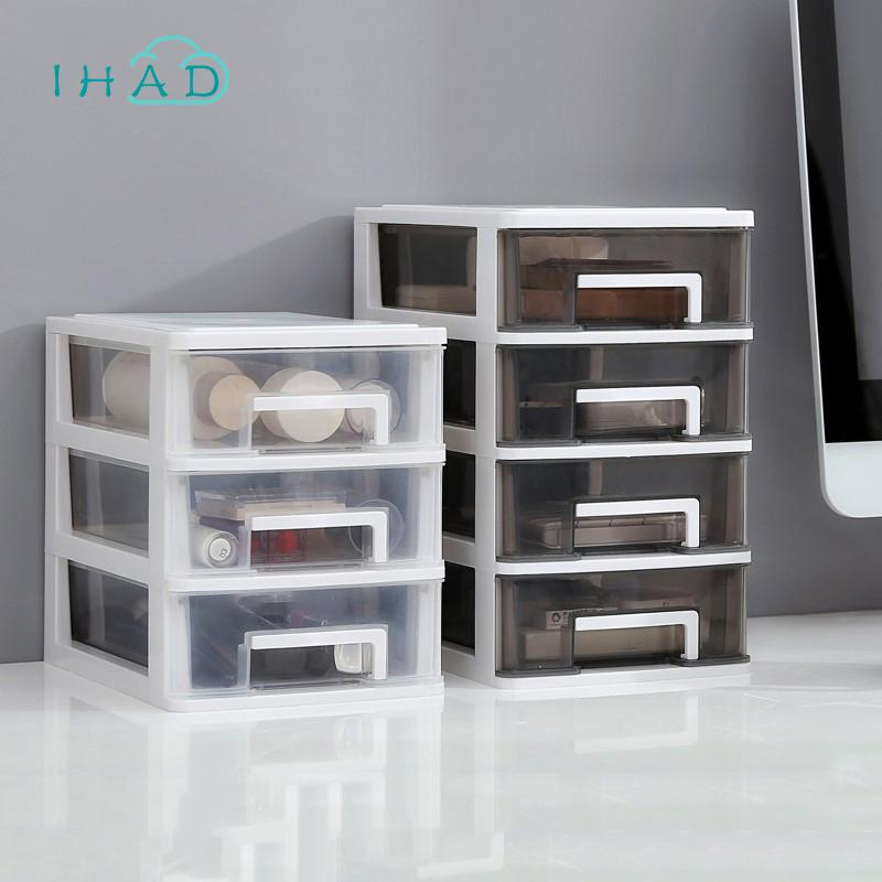 New Desktop Organizer Box Plastic Mini Drawer Cosmetic Makeup Storage Cases Office Desk Stationery Toy Sundries Finishing Boxes