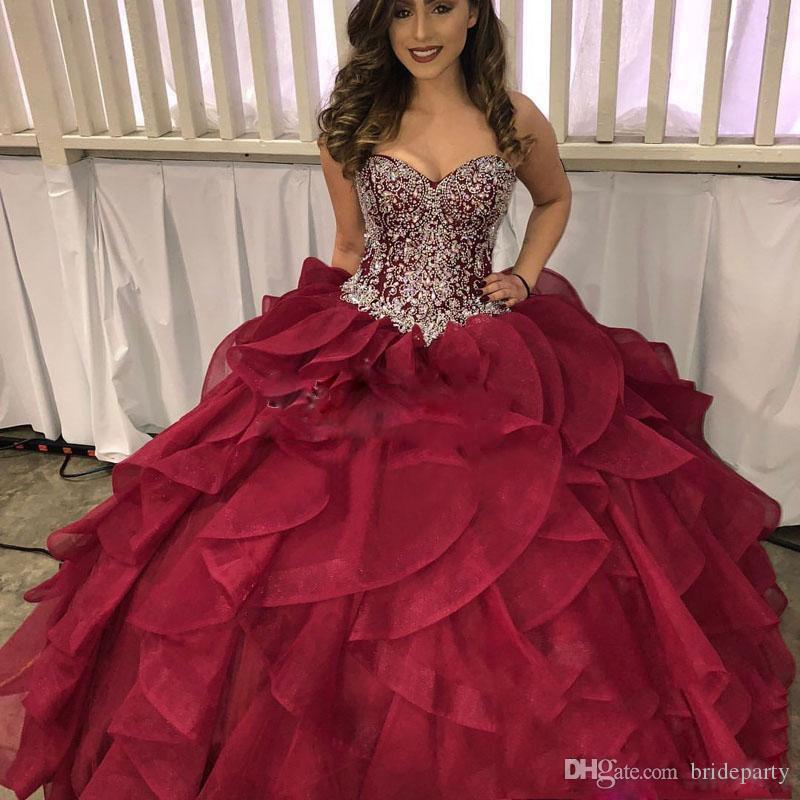 Hot girls in quiceneiera Elegant Sweetheart 2019 Women Quinceanera Dresses Organza Ruffles Ball Gown For Sweet 16 Girls Hot Party Gown From Brideparty 226 14 Dhgate Com