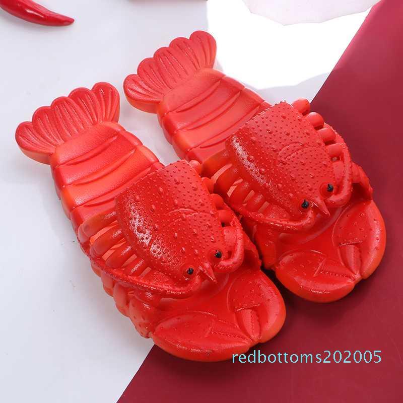 Kadınlar Ayakkabı Yaz Istakoz Sandalet 2020 Yeni Kaymaz Plaj Aile Komik Istakoz Terlik R05