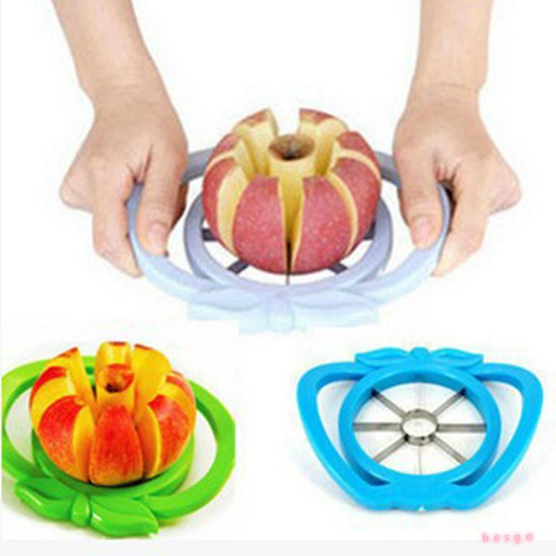 Kitchen Gadgets Apple Corer Slicer Stainless Steel Easy Cutter Cut Fruit Knife Cutter For Apple Pear Fruit Vegetables Tools DBC BH3765