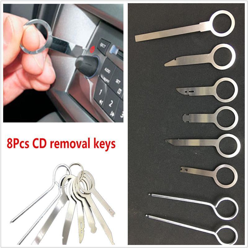 키 도구 키트는 보편적 8PCS / LOT 전문 자동차 자동차 라디오 스테레오 오디오 CD 플레이어 도어 패널 제거 제거 설치