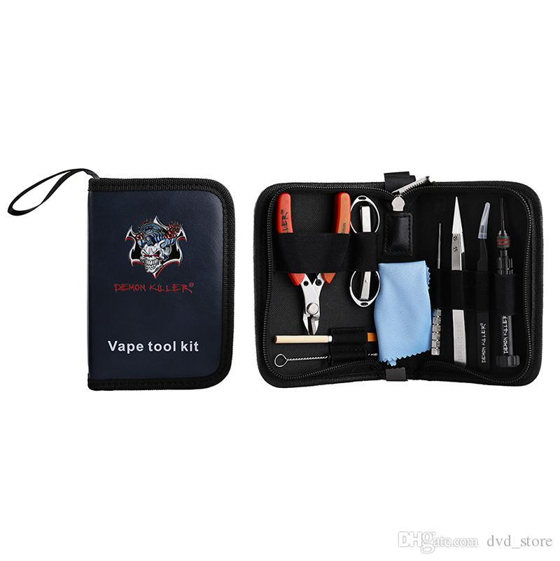 Kit di attrezzi per sigarette elettroniche originali Demon Killer con ceramica Tweezer Bobina Jig per RBA RBA Accessori fai da te Vape