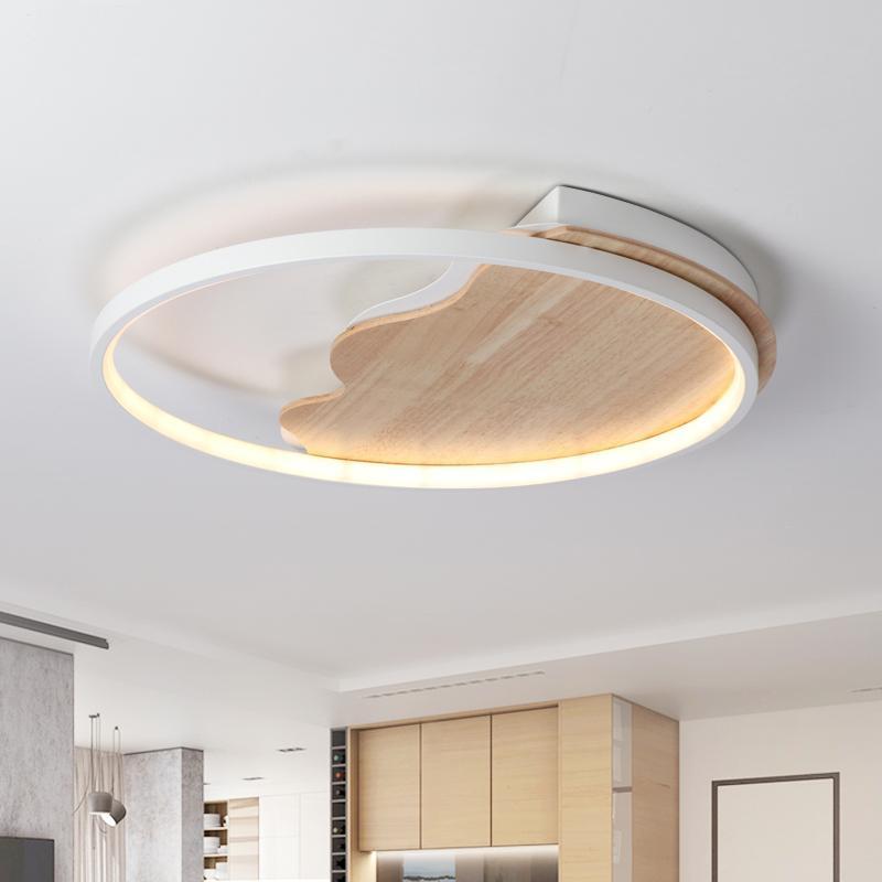 Fabrika Oturma odası Çalışma Ro İçin İskandinav Basit Modern Ahşap Avize Ultra ince Japon LED Avize wholesaleMDWELL