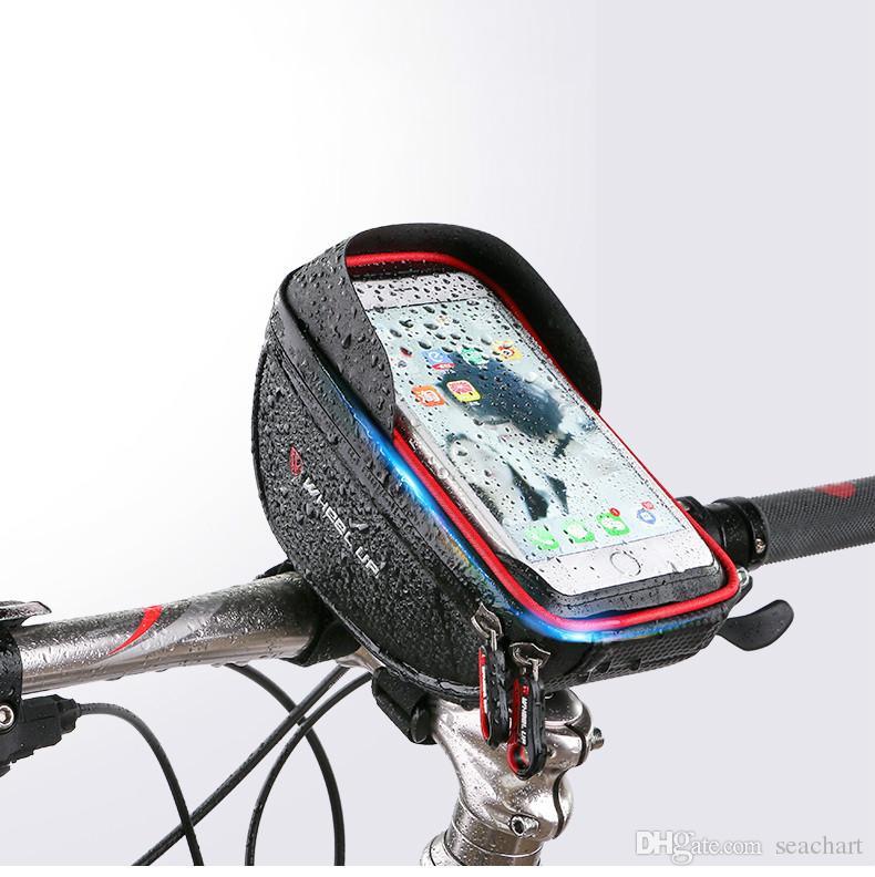 방수 MTB 도로 자전거 자전거 앞 가방 사이클링 상단 튜브 프레임 핸들 바 6.0 인치 사이클링 주머니 핸드폰 가방 NY107